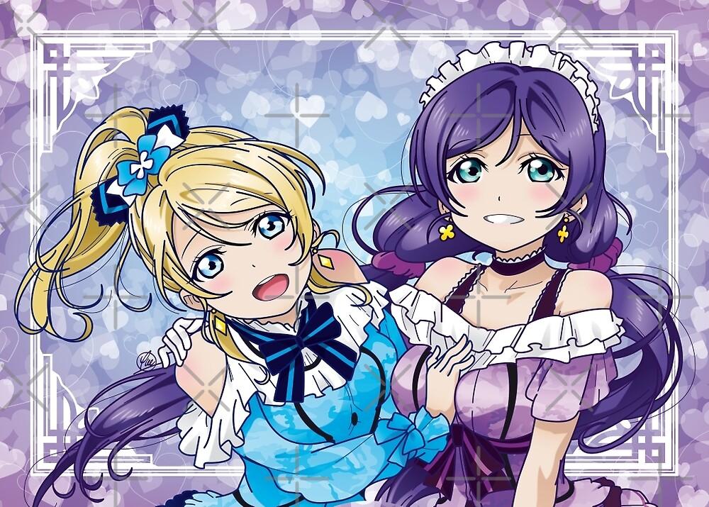 Nozomi & Eli (KiRa-KiRa Sensation camo edit) by alphavirginis