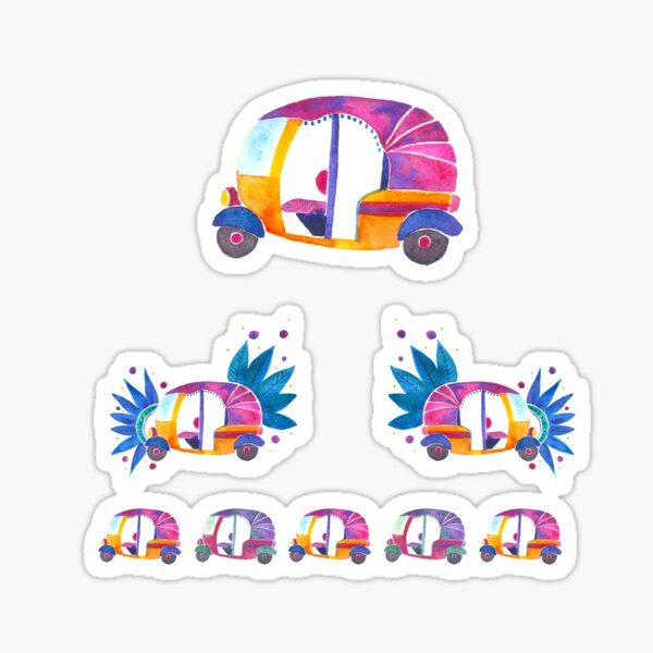 Auto-rickshaw sticker sheet Sticker