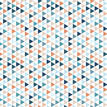 Colorful Modern Geometry Triangle Pattern in Pastel Colors by MyArt23