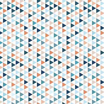 Buntes modernes Geometrie-Dreieck-Muster in den Pastellfarben von MyArt23