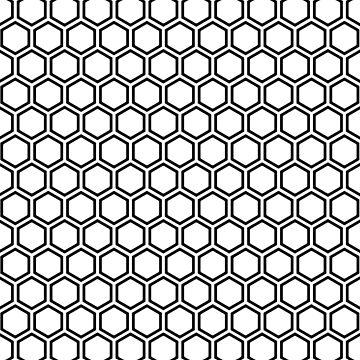Nahtloses Muster der Bienenwabe in Schwarzweiss von MyArt23