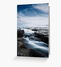 Running Rock Pools - Australian Coast Greeting Card
