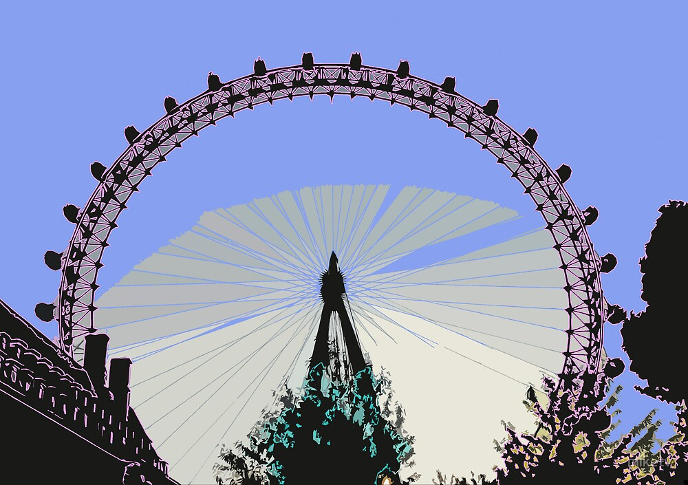 London Eye Outline by miketv