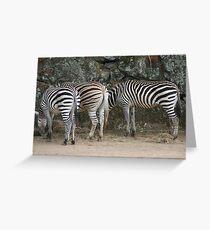 Stripey bottoms Greeting Card