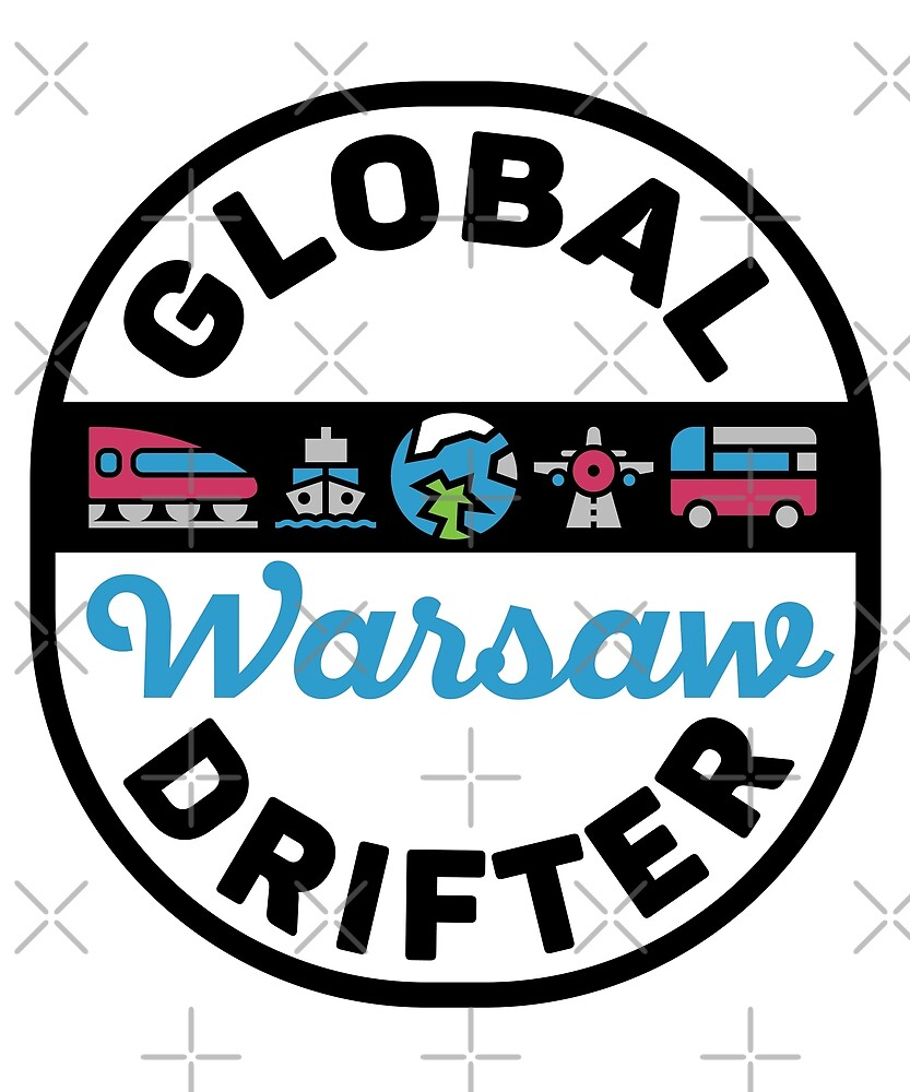 Warsaw Poland Global Drifter Travel by designkitsch