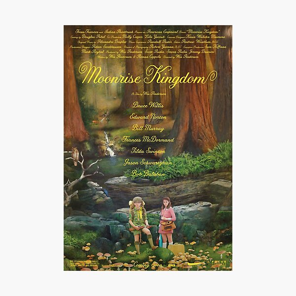 Moonrise Kingdom casttle movie,  Photographic Print