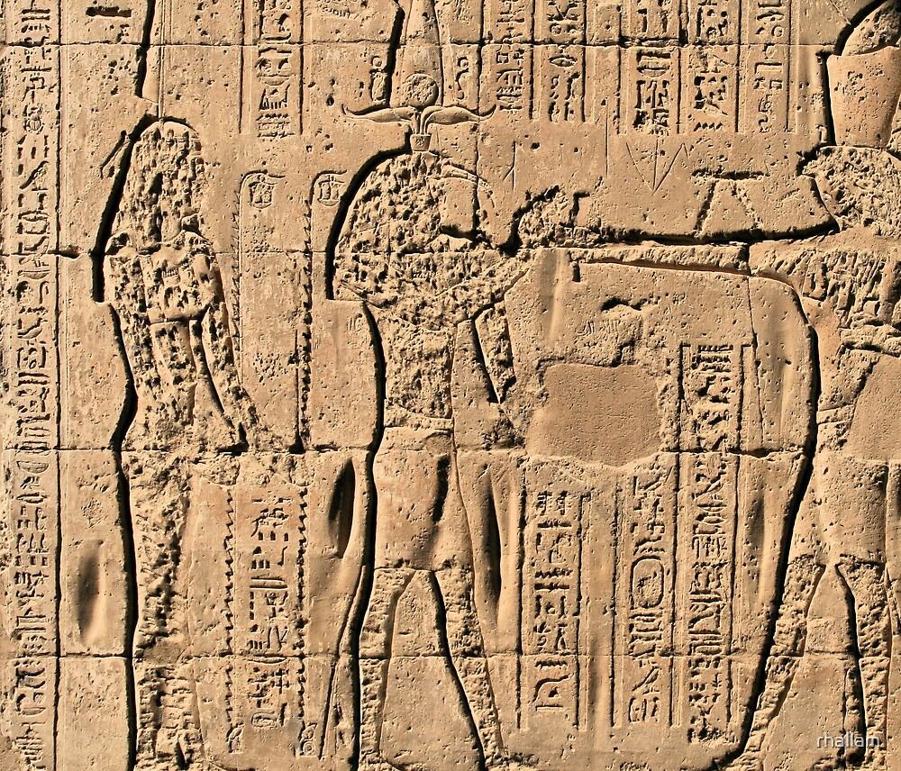 Edfu Temple hieroglyphs 2 by rhallam