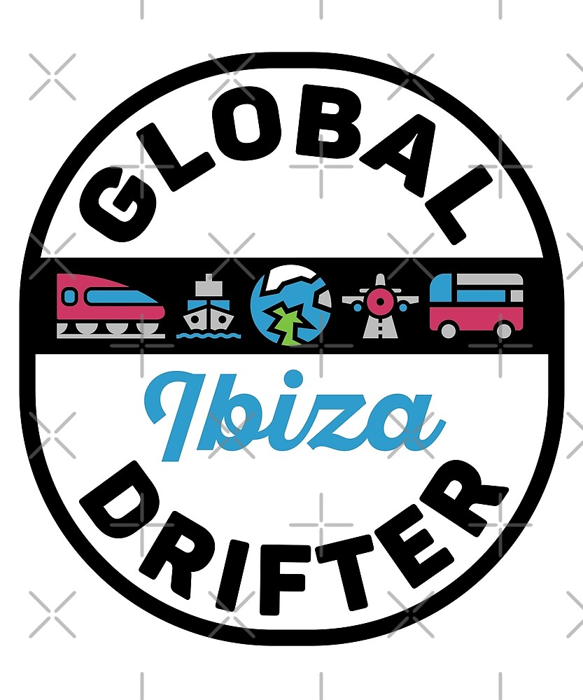 Ibiza Spain Global Drifter Travel by designkitsch