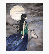 """""""Night of the Wolf"""" Gothic Fantasy Art by Molly Harrison Photographic Print"""