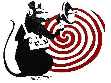 Banksy Rat Listening Device by jmercereau