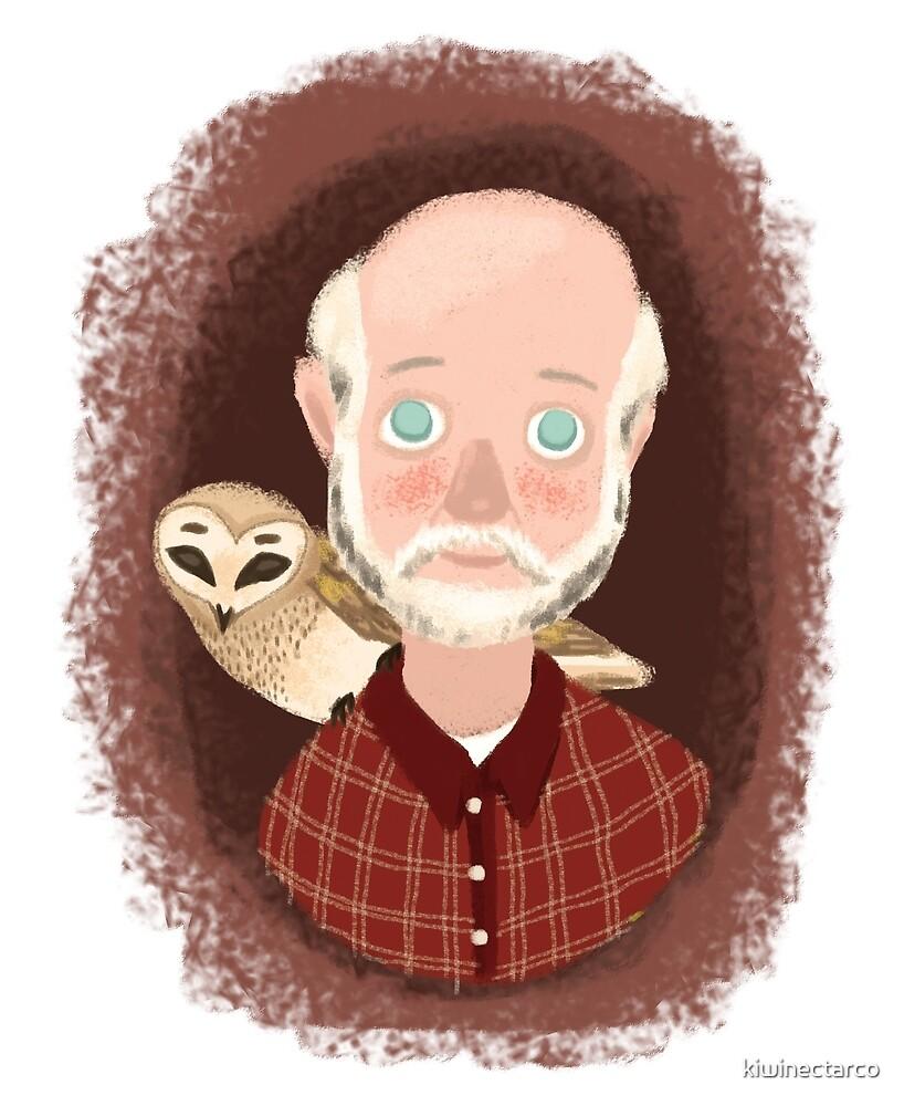 Grandfather Owl by kiwinectarco