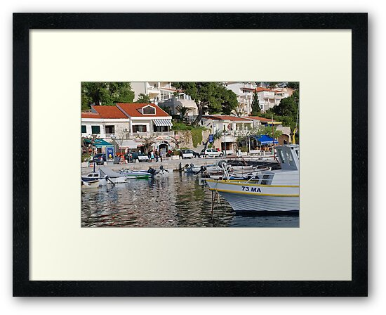 Brela harbour boats, Croatia by David Fowler
