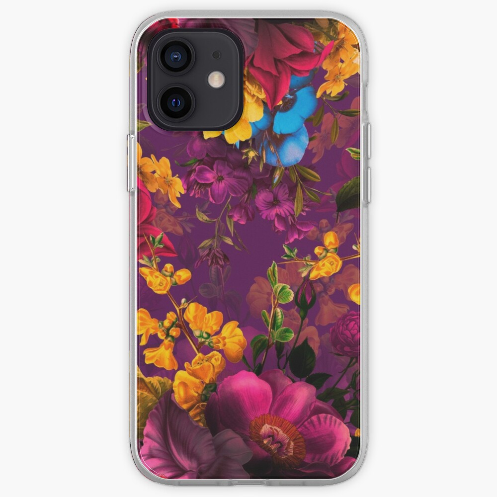Moody florals - Mystic Night 12 iPhone Case & Cover