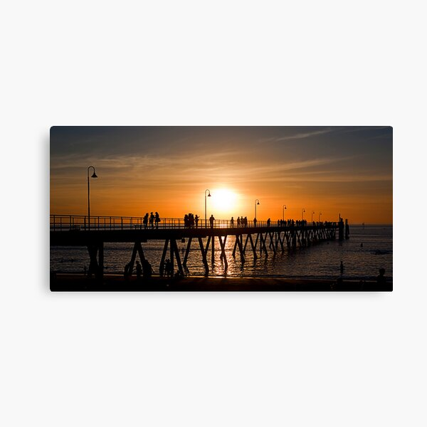 The Jetty, Glenelg, Adelaide Canvas Print