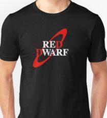 Distressed Red Dwarf Logo Slim Fit T-Shirt