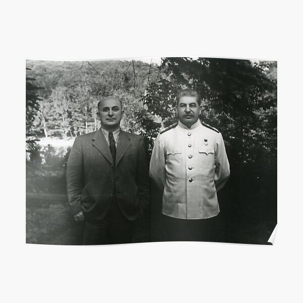 Stalin Beria Сталин Берия mature adult standing suit  Poster