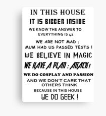 The Geek House Canvas Print