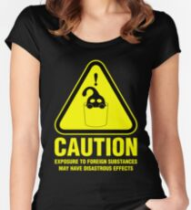 Suu Hazard Sign (English version, for dark backgrounds) Fitted Scoop T-Shirt