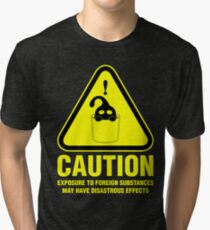 Suu Hazard Sign (English version, for dark backgrounds) Tri-blend T-Shirt