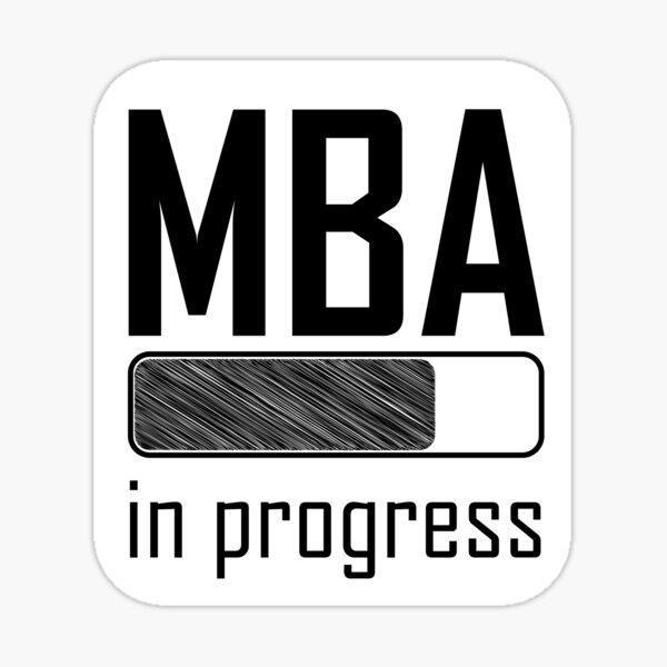 Student MBA in Progress loading bar Sticker