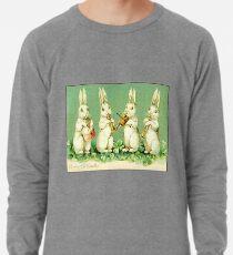 Vintage musikalische Osterhasen Leichtes Sweatshirt