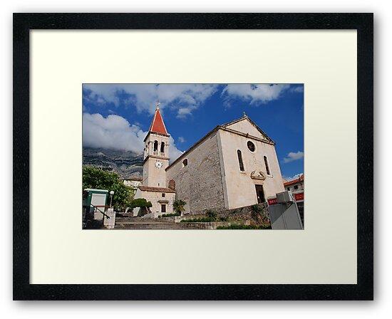 Church of St. Mark at Makarska, Croatia by David Fowler