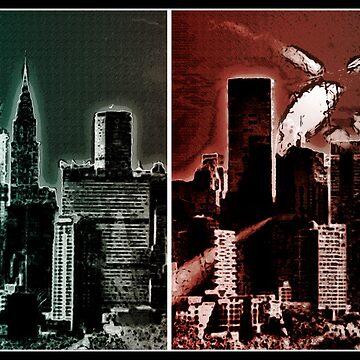 metropolis skyline by vampvamp