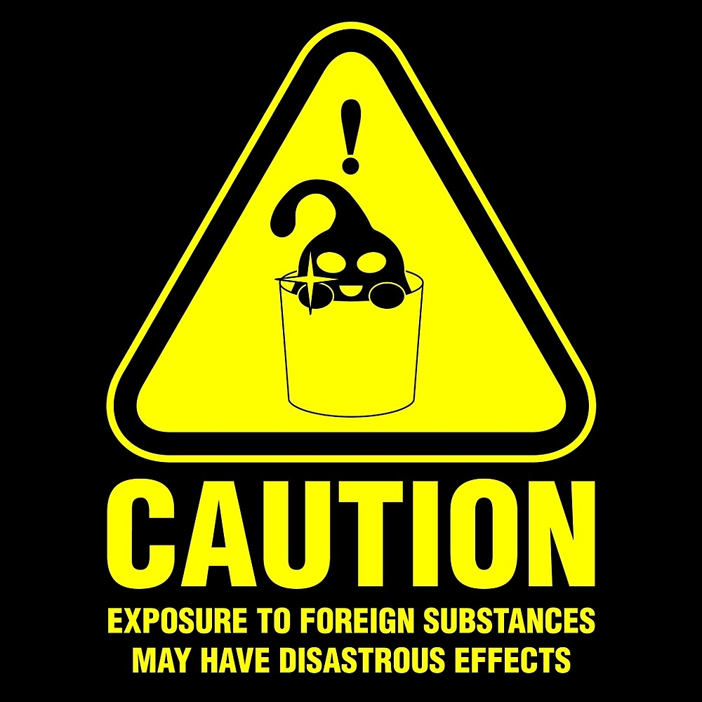Suu Hazard Sign, Mischievous Version (English text, for dark backgrounds) by LoganAgle