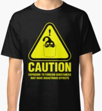 Suu Hazard Sign, Mischievous Version (English text, for dark backgrounds) Classic T-Shirt