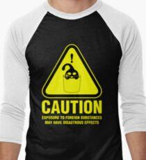Suu Hazard Sign, schelmische Version (englischer Text, für dunkle Hintergründe) Baseballshirt mit 3/4-Arm