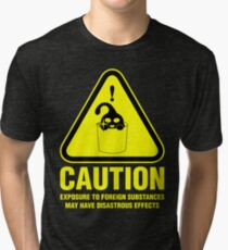 Suu Hazard Sign, Mischievous Version (English text, for dark backgrounds) Tri-blend T-Shirt