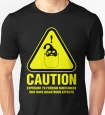 Suu Hazard Sign, Mischievous Version (English text, for dark backgrounds) Unisex T-Shirt