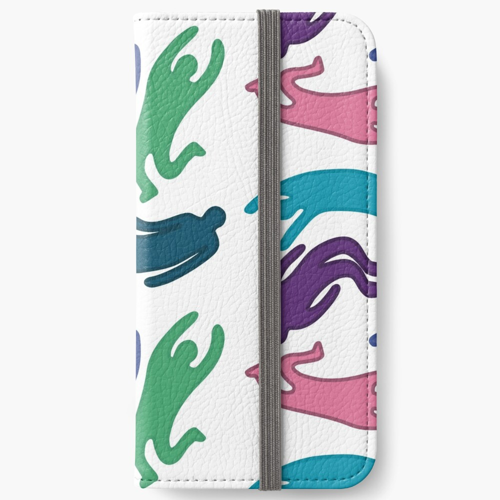 Flying Colored People iPhone Wallet