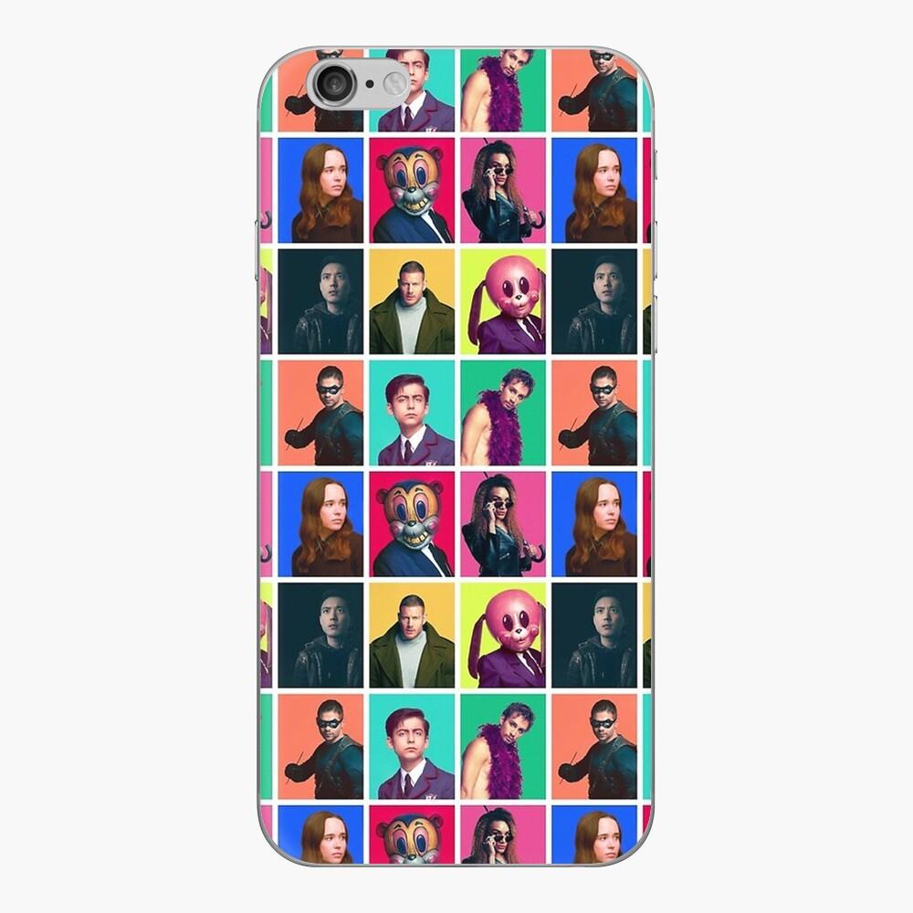 Die Schirmakademie - Charakter-Collage iPhone Klebefolie