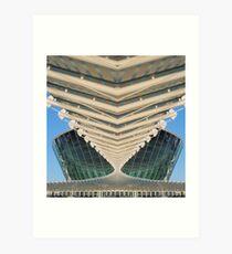 Modern building reflection Art Print