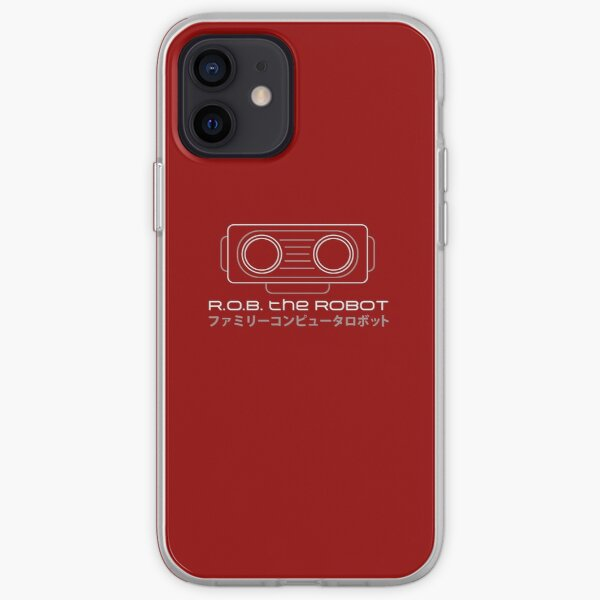 ROB. Le Robot - Retro Minimalist - Red Clean Coque souple iPhone