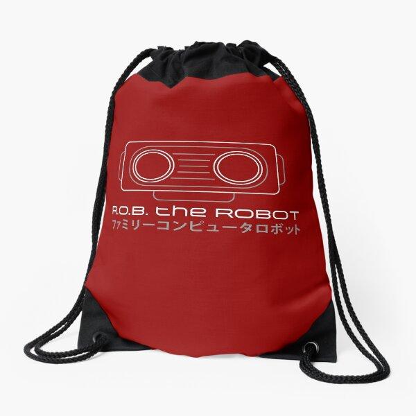R.O.B. The Robot - Retro Minimalist - Red Clean Drawstring Bag