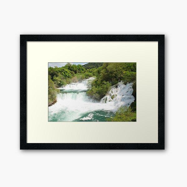Krka waterfalls, Croatia Framed Art Print