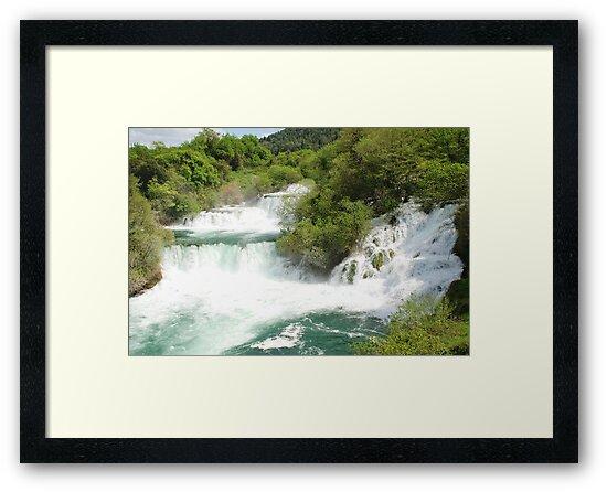 Krka waterfalls, Croatia by David Fowler