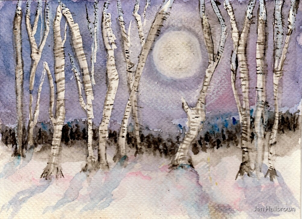 Winter Landscape by Jen Hallbrown