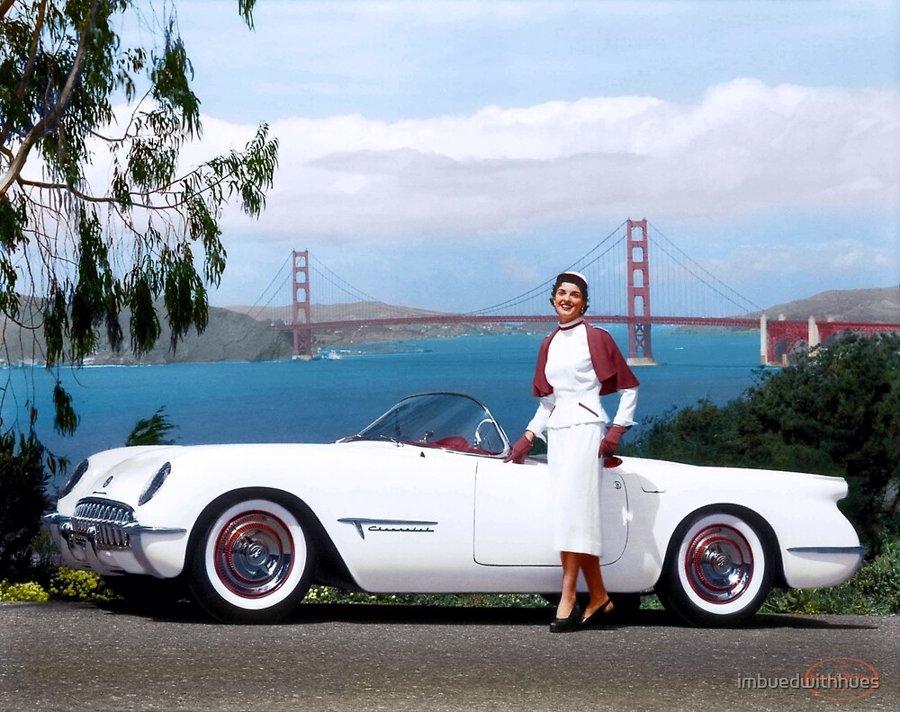 Corvette EX-122 concept car, 1953 by imbuedwithhues