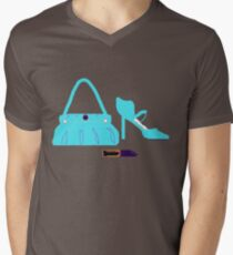 BAG SHOES AND LIPPY    T SHIRT Mens V-Neck T-Shirt