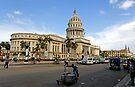 Capitolio street scene, Havana, Cuba by David Carton