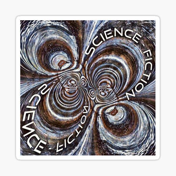 Rusty Fractal Science Fiction  Sticker