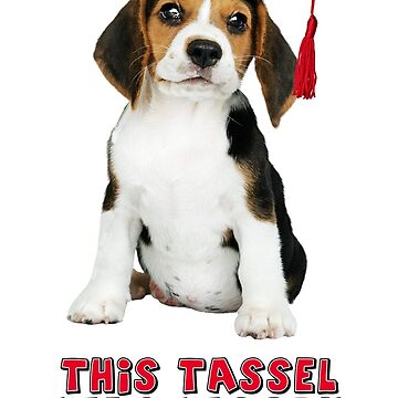 Beagle Graduation Tassel Hassle by CafePretzel