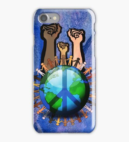 Unity And Peace - Raised Fists! iPhone Case/Skin