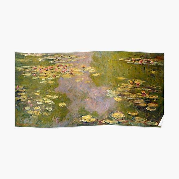 MONET. Water Lilies, 1919, Metropolitan Museum of Art, New York. Poster