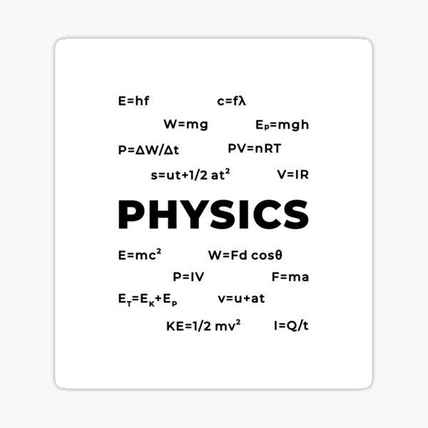 Physics (Inverted) Sticker
