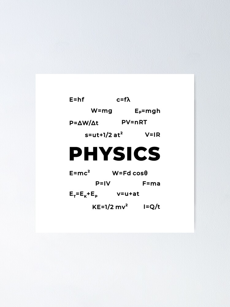 Alternate view of Physics (Inverted) Poster