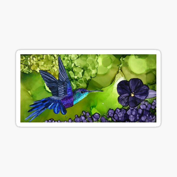 Delilah the Violet Crowned Woodnymph Hummingbird Sticker